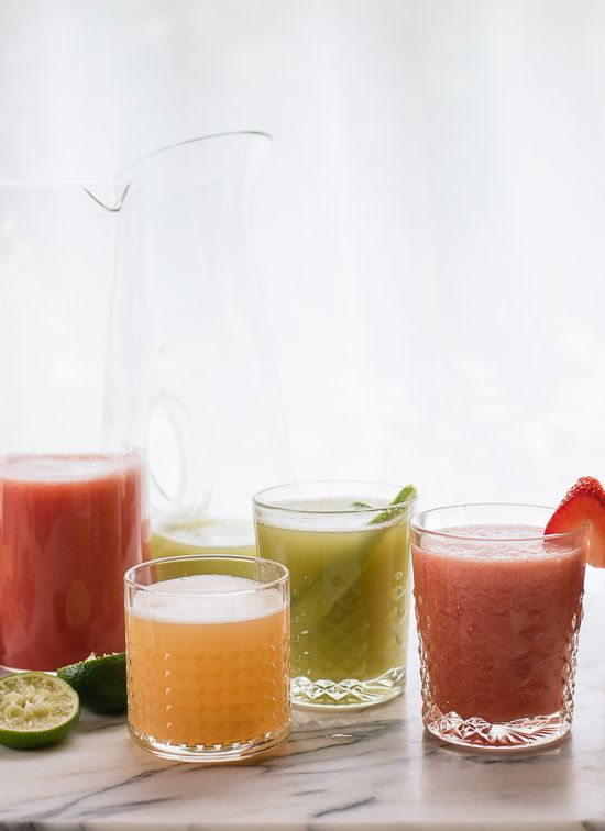 Refreshing and simple aguas frescas! - cookieandkate.com