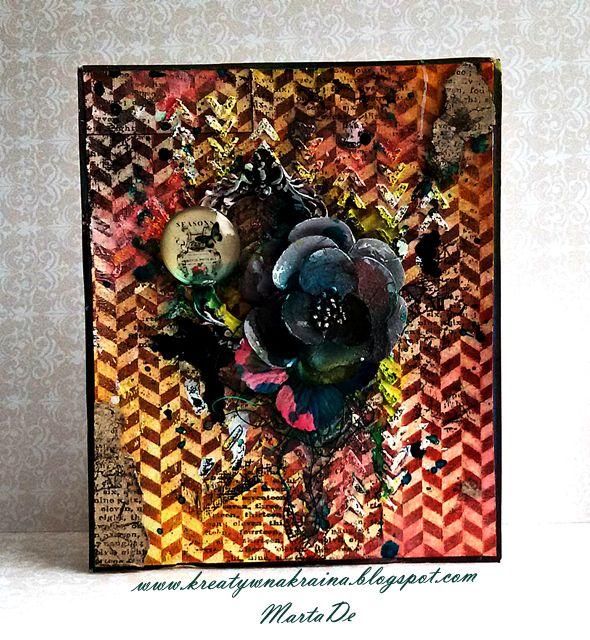 Kreatywna Kraina: Mixed-media card / DT Nashe Hobby