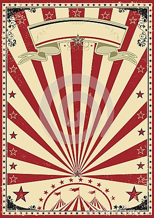 a circus vintage poster for your show