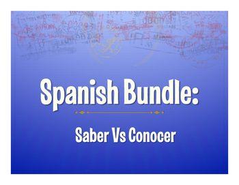 17 best images about spanish saber vs conocer lesson activity ideas on pinterest spanish. Black Bedroom Furniture Sets. Home Design Ideas