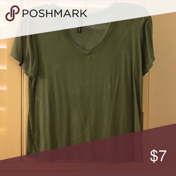 Army Green Short Sleeve Top❣️ Cute & comfy! Full Tilt Tops Tees - Short Sleeve
