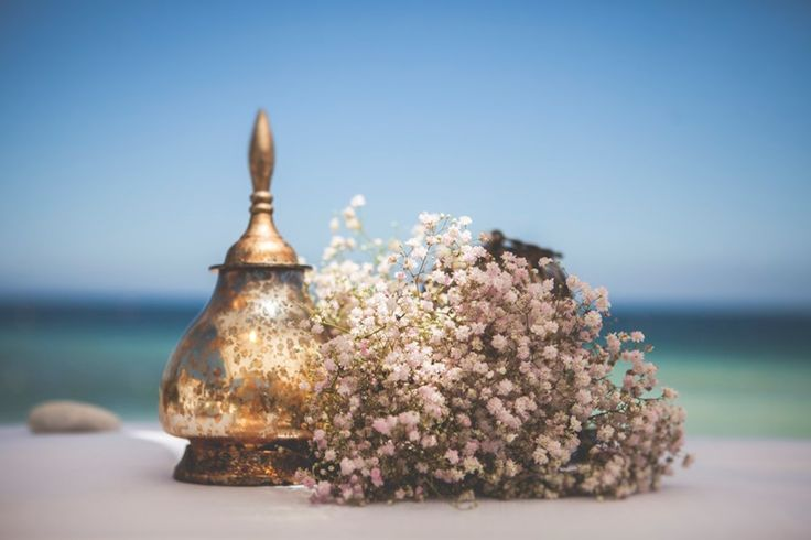 decoración altar boda en la playa