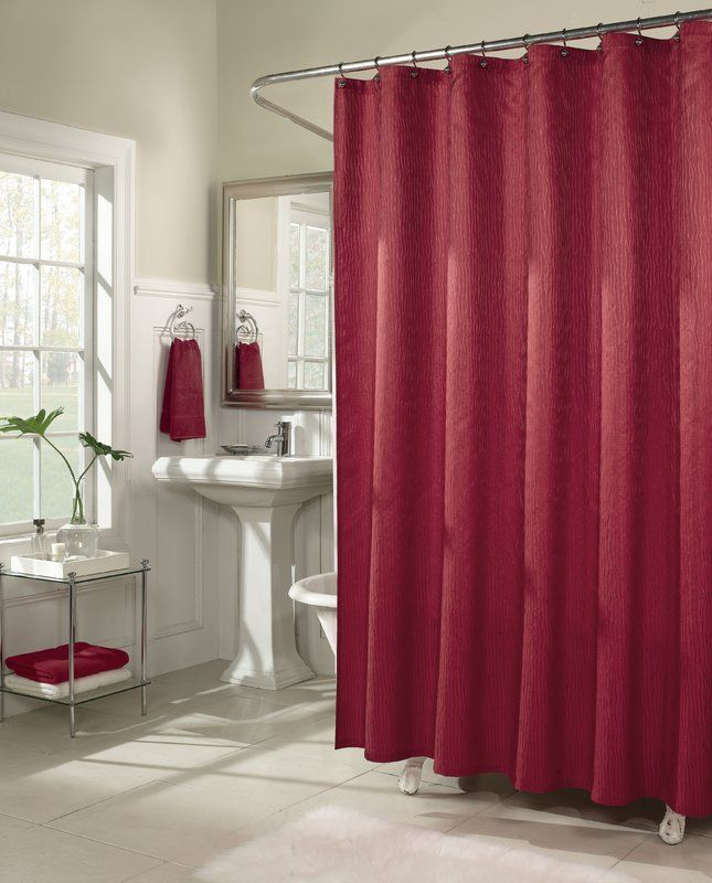 Malone Shower Curtain Red Shower Curtains Fabric Shower