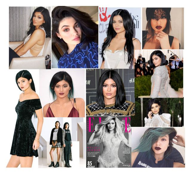 """""""kylie jenner collage"""" by voicu-ana ❤ liked on Polyvore featuring PacSun"""
