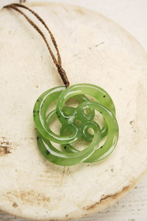 Carved Jade Necklace - Circle of Life