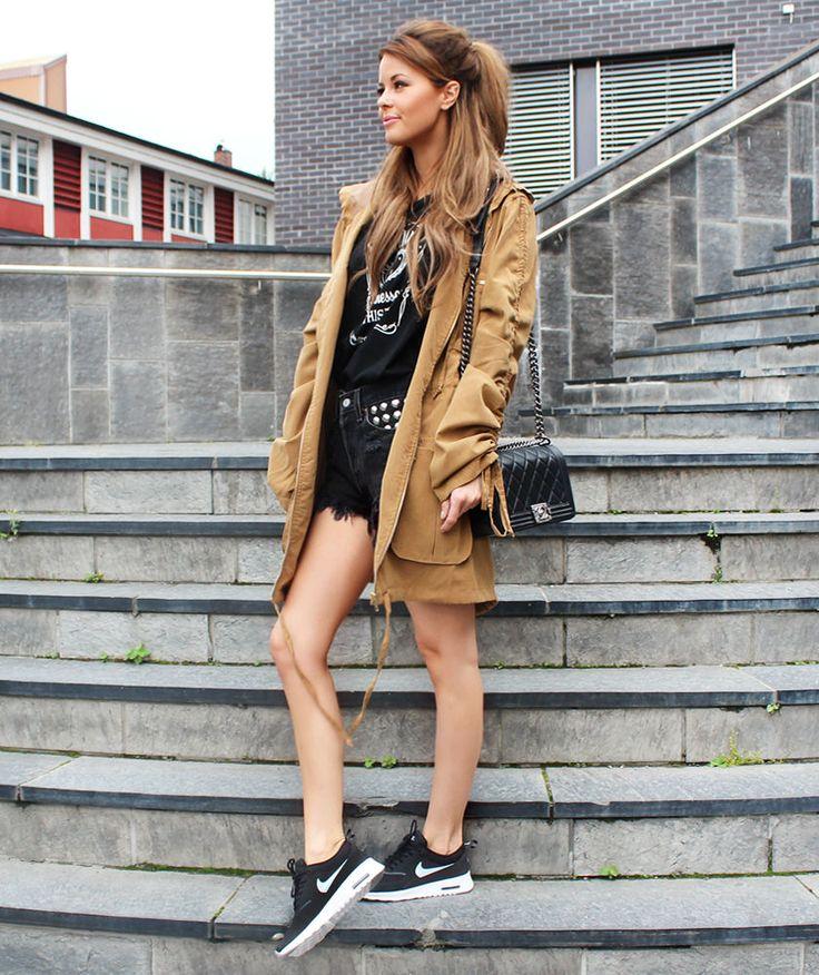 Nettenestea annette haga outfit juli 2014 antrekk harper zipper parkas nvrnkd nike sko sneakers nevernaked nettbutikk mote blogg