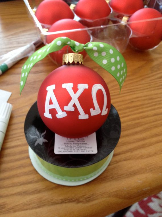 Alpha Chi Omega Sorority Ornament by DesignsByDecker on Etsy, $10.00