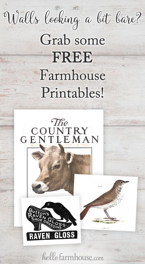 Download free farmhouse goodies at the HelloFarmhouse.com printables library!