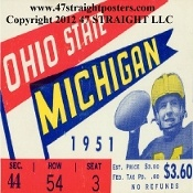 Michigan football ticket drink coasters, football gifts. Best Christmas football gifts! #47straight  $29.99