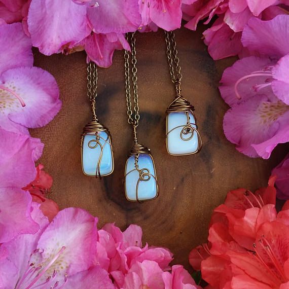 opalite necklace tumbled opalite necklace opal  opalite