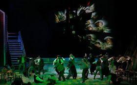 "Scena z opery ""Holender tułacz"" reż. Herbert Adler"