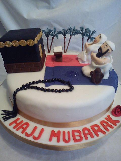 Umrah Banner: Hajj Mubarak Cake
