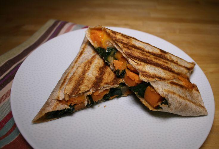 Kale & Sweet Potato Grilled Burritos - Soy and Sugar