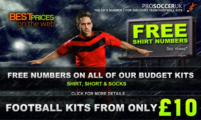 Football kits from Pro Soccer Uk one of the countries leading team kit suppliers of discount football kits, football team kits and cheap football kits for schools, kids, junior and men's team's to suit your budget. buy your football kits online today.