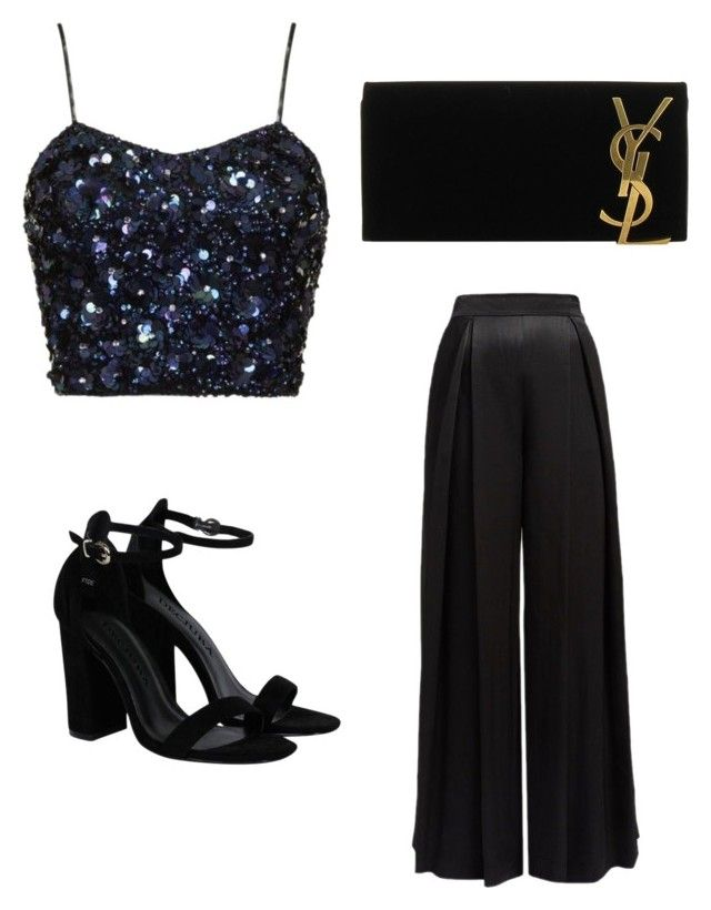 Party by sophiabloglifestyle on Polyvore featuring polyvore, fashion, style, Yves Saint Laurent and clothing