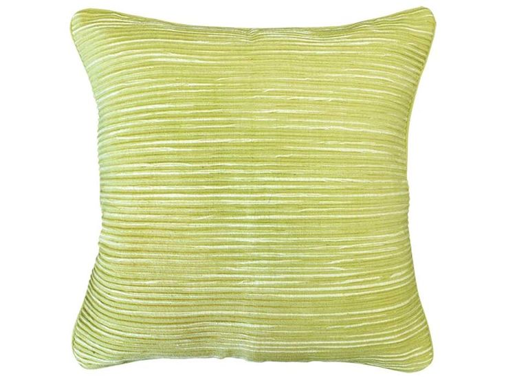 Rakaia Lime Green Cushion - A beautifully textured square cushion in a vibrant lime green colour. Pair with other colours from the same range or add more softness with velvet textures.