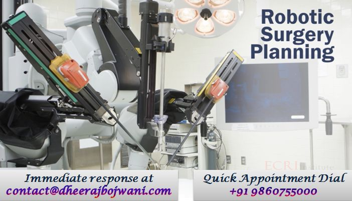 Robotic surgery procedure allows doctors to perform many types of complex procedures with more precision, flexibility and control than which is possible with traditional techniques.