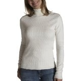 Red Moon Women's Long Sleeve Cotton Cashmere Blend Cable Front Turtleneck Sweater (Apparel)By Red Moon