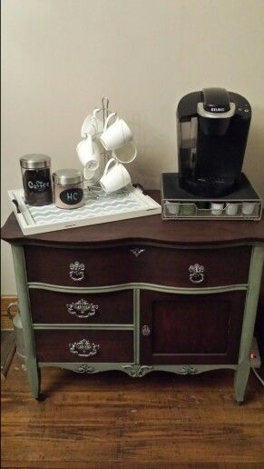 I love my wash stand turned coffee bar