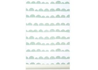 magnifique papier peint 'halfmoon' Ferm Living | shop pour enfants Le Petit Zèbre