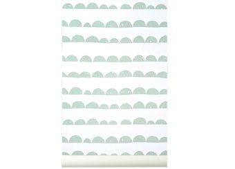 magnifique papier peint 'halfmoon mint' Ferm Living   shop pour enfants Le Petit Zèbre