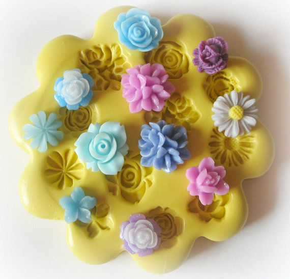 Flower Cabochon Mold Silicone Flexible Resin Mold by WhysperFairy, $11.95