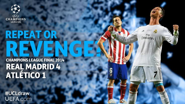 Tickets available online for Atletico de Madrid v/s Real Madrid, Champions League Quarter Final 2015.  www.footy-legend.com