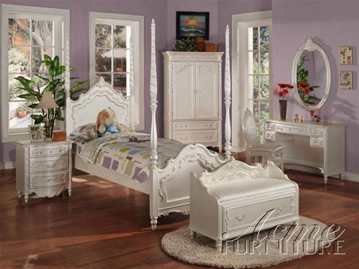 Pearl White Finish Twin Size Post Bedroom Set Item #: 01000T Set. This Goes  With The Girlsu0027 Dressers! | For The Girlsu0027 Room | Pinterest | Girl Dresser,  ...