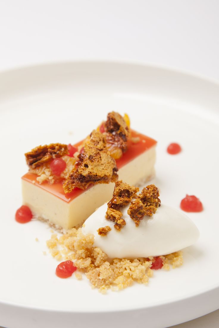 Mascarpone mousse with blood orange - one of the recipes featured in Burnt - the movie starring Bradley Cooper and Sienna Miller