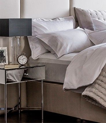 Grey and beige is a sophisticated, calming theme for your sleep sanctuary, like this bedroom setting from John Lewis