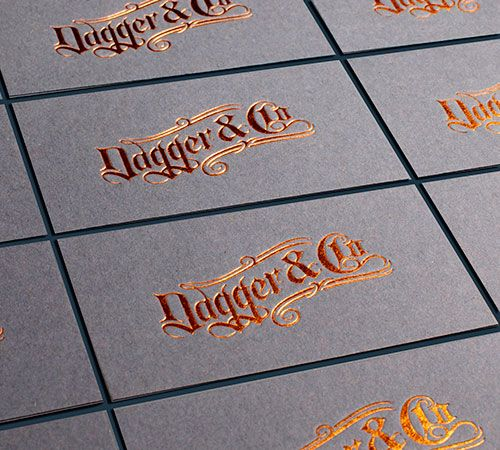 11 best foil business card printing images on pinterest business business card for dagger co foil printing for a tattoo shop reheart
