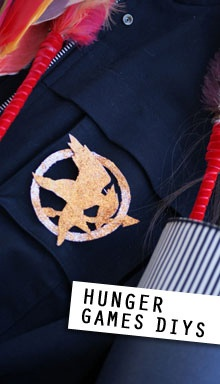 How to create a Katniss costume (for Halloween or, let's face it, any day you want to be particularly awesome), plus a link to the author's Mockingjay pumpkin-carving template.