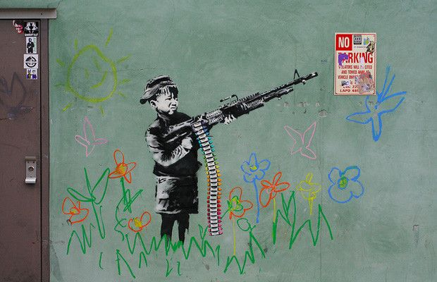 Crayola Shooter - The 50 Greatest Banksy Works of All Time | Complex