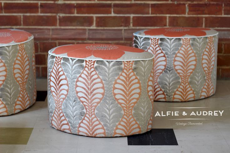 Joyce ottomans available @ Holiday Trading Co , Robe SA. Store details available @ www.alfieandaudrey.com.au/stockist