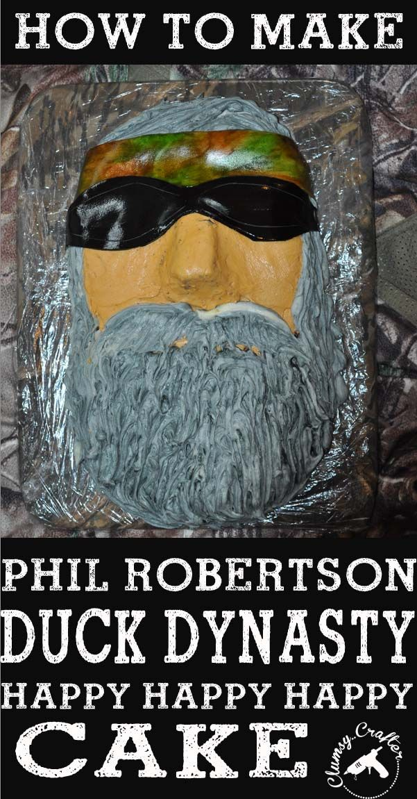 Duck Dynasty Cake – How To 17th birthday party cake like this. But all of their faces, smaller!