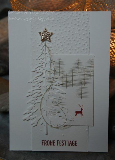 da läuft's! Heute war so ein Tag, an dem mir die Weihnachtskarten für meine Spendenaktion quasi wie am Schnürchen von der Hand gingen. Da sie ja gespendet werden und auch wiederum gegen eine Spende na
