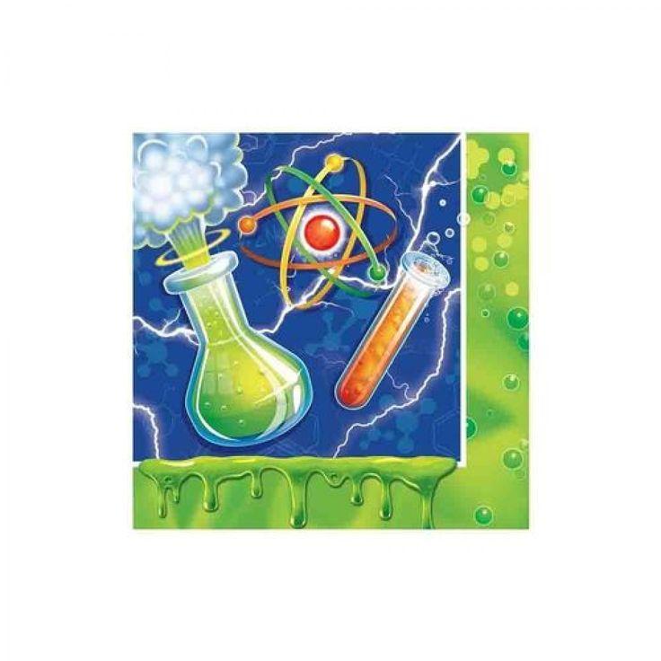 Zelfs professoren knoeien wel eens als ze met een experiment bezig zijn op het science feestje. Met deze servetten ruim je dat mooi weer op. www.creakelder.nl