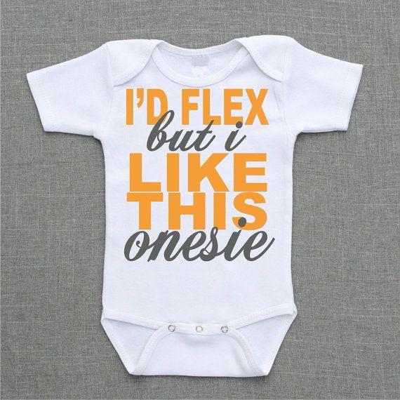 Id Flex but I like this Onesie Onesie Baby Bodysuit Romper Creeper or Shirt cute funny baby gift under 25