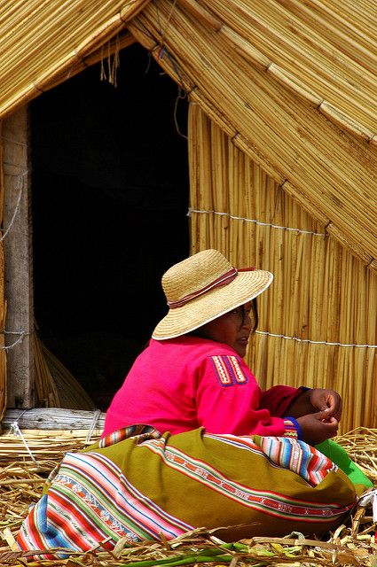 Lake Titicaca, Peru, 2007 | Local woman in front of her hous… | Flickr