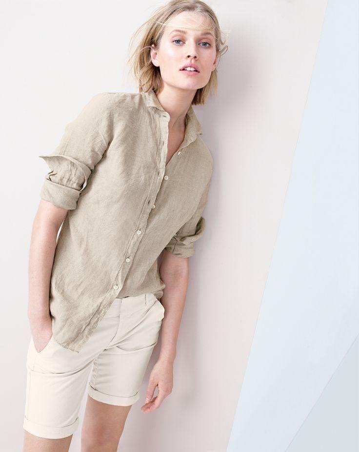 Wear Now: White - J.Crew - Spring 2014 - J.Crew linen Perfect shirt.