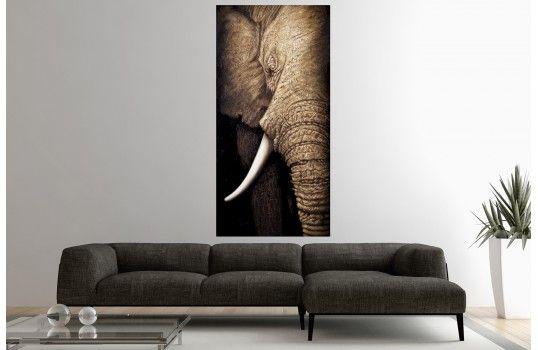 Tableau design Elephant. Peinture à l'huile, peint à la main