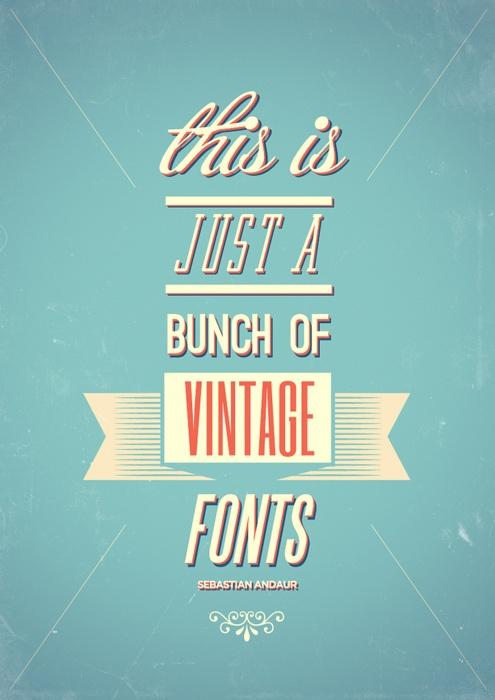vintage typography inspiration