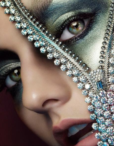 fancy zipper face makeup for Halloween