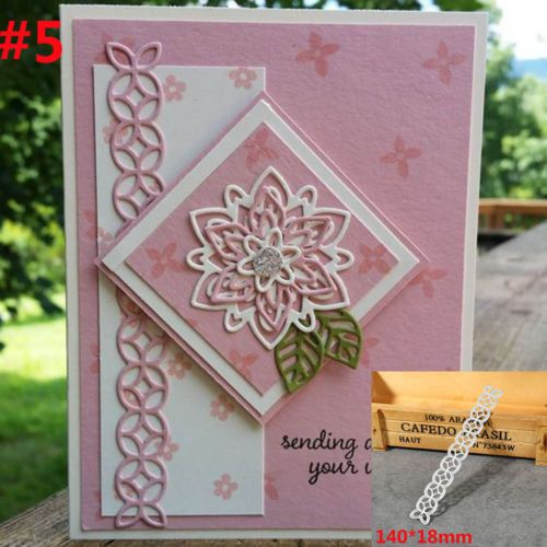 Card lace decor Metal Cutting Dies for DIY Scrapbooking Album Embossing Craft BB
