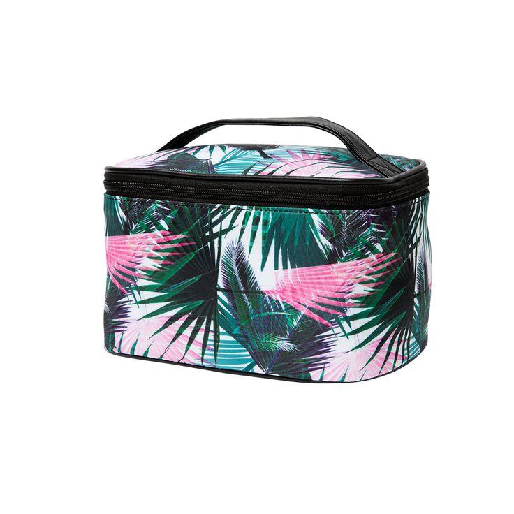 Vanity Cristina Cordula pour TATI 7€99 #TatiByCristina #Cristina Cordula #TATI #trousse #maquillage #exotic #tropical #jungle #bag #travel