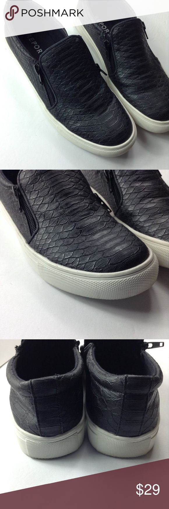 R E P O R T. Sneakers R E P O R T Snakeskin (faux) Sneakers | Zipper Detail | Good Condition Report Shoes Sneakers