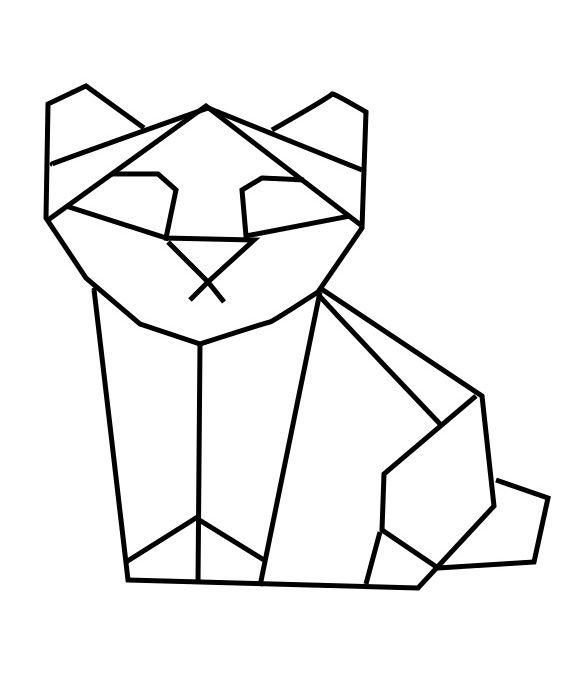 geometric geometrique panda bear