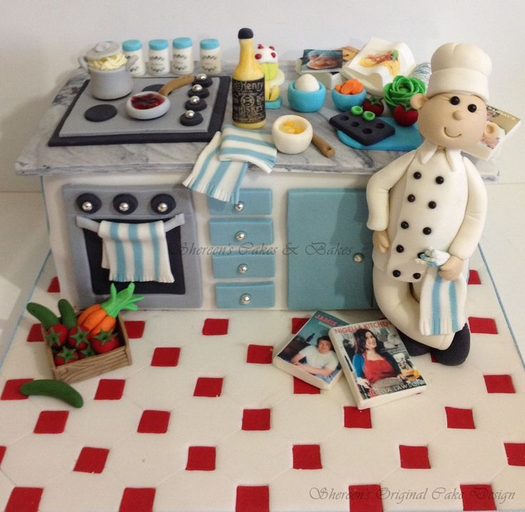17 best ideas about chef cake on pinterest themed cakes for Chef themed kitchen ideas