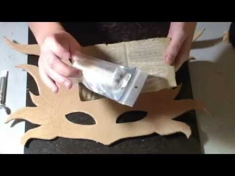 How to make a leather mask! Full tutorial by Angelic Artisan. angelicartisan.com or youtube.com/user/angelicshades