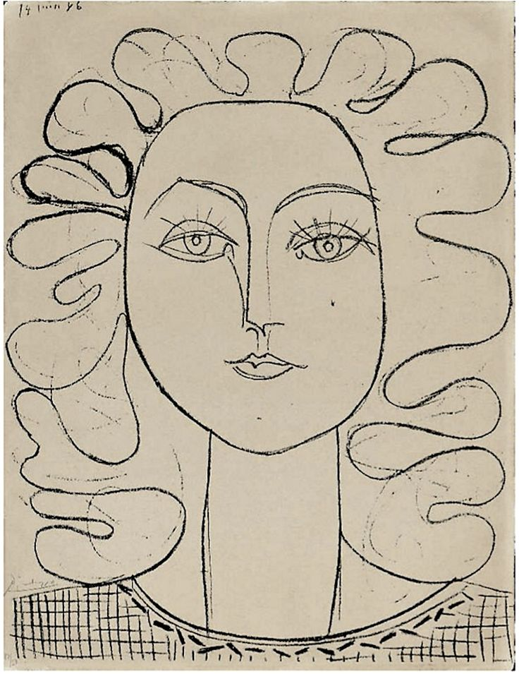 loverofbeauty:  Pablo Picasso: Francoise, Lithograph 1946